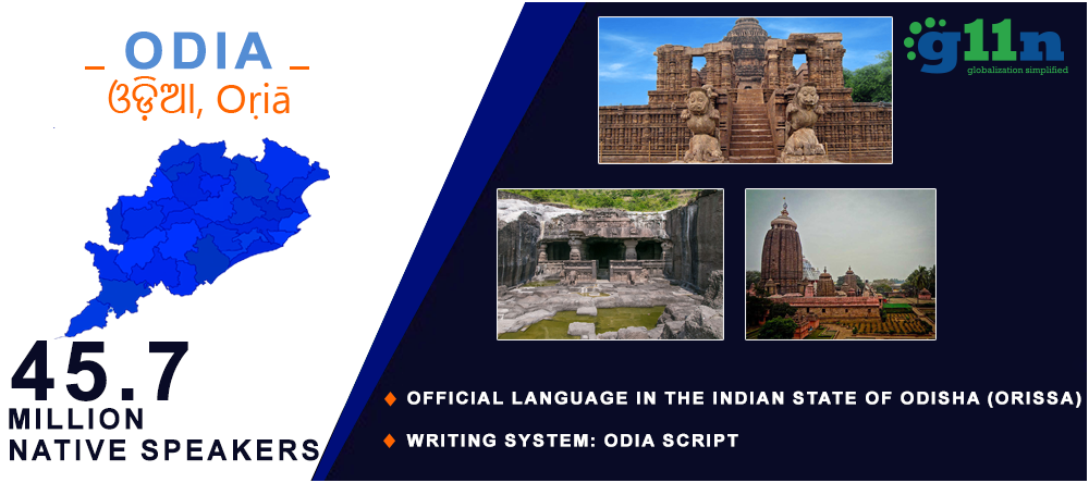 Odia Translation opportunity map in Odisha